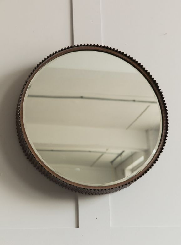 Round Notched Mirror