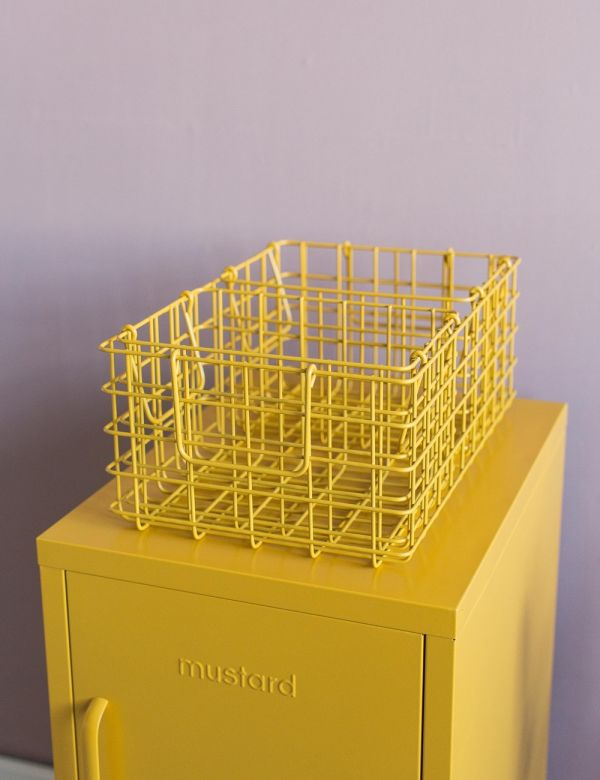 Mustard Made Set of Three Wire Baskets - Mustard Yellow