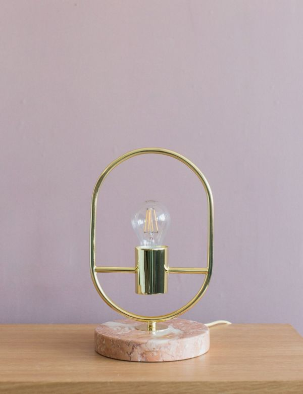 Sicily Gold & Marble Table Lamp