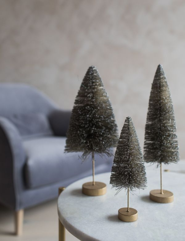 Silver Glitter Christmas Tree - Three Sizes Available