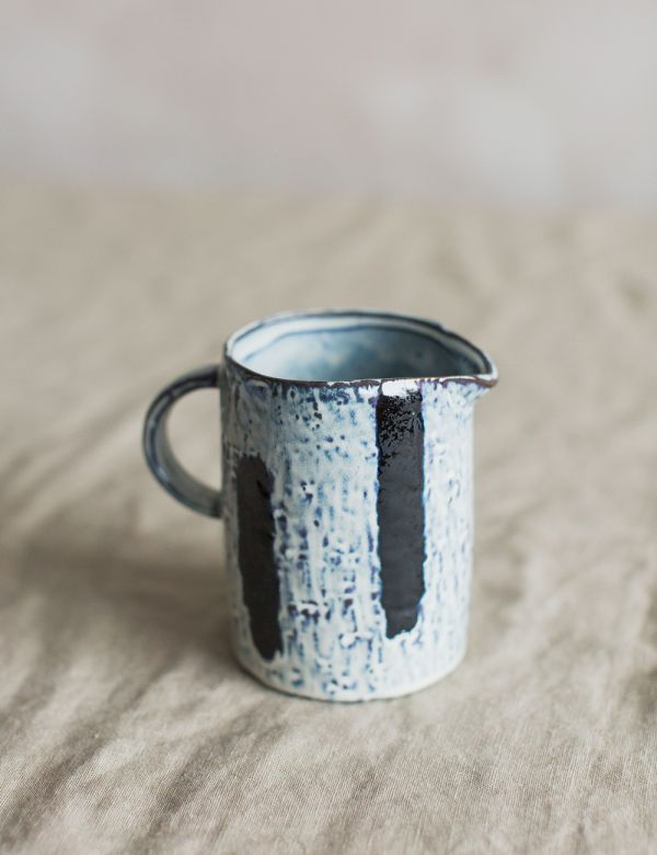 Small Stripe Stoneware Jug