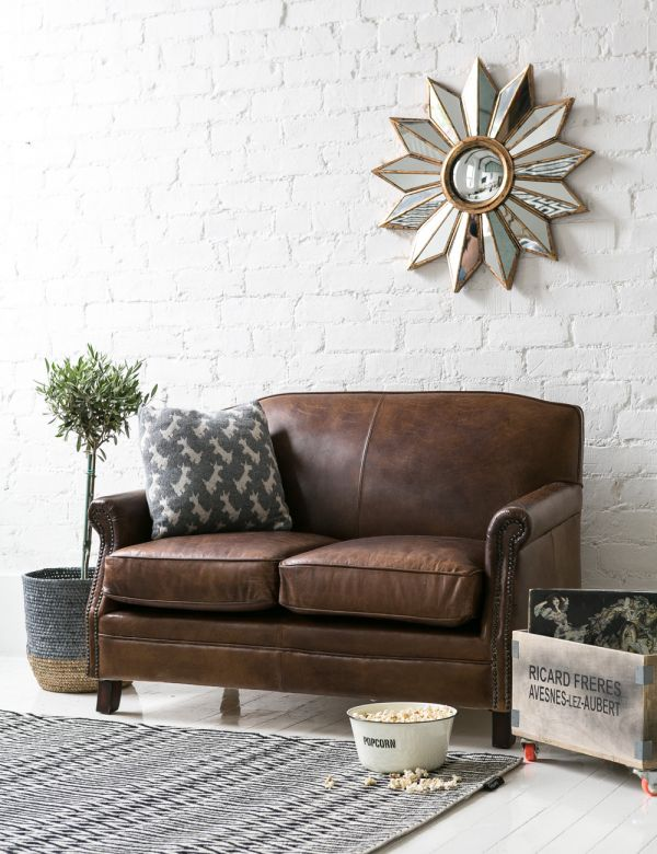 Vintage Leather Brooklyn Sofa