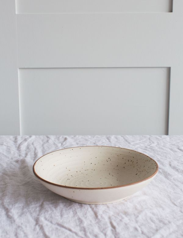 Speckled Ceramic Salad Bowl