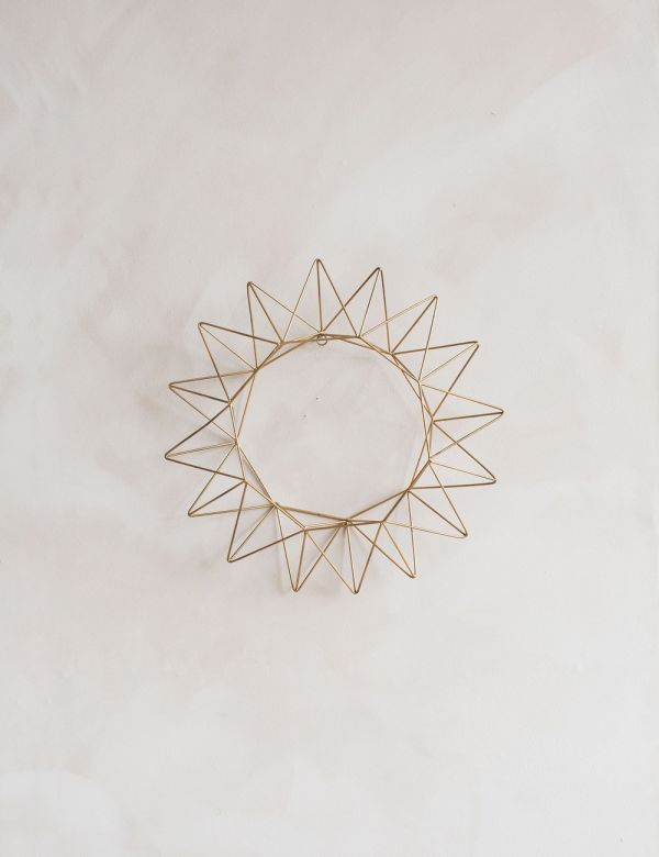 Talini Antique Brass Wire Wreath