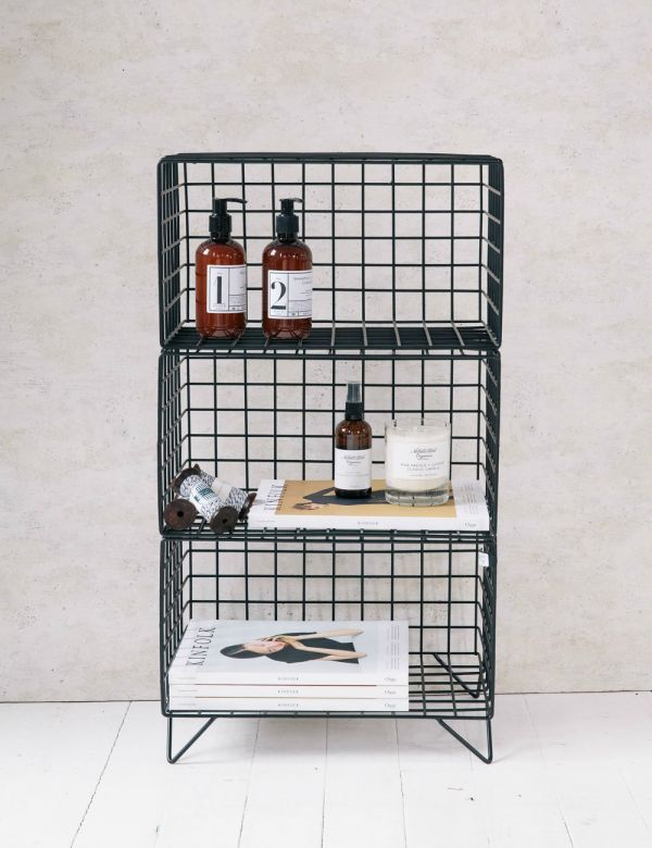 Three-Tier Wire Shelves