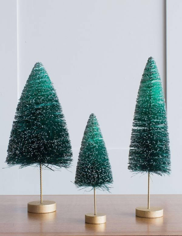 Turquoise Glitter Christmas Tree - Three Sizes Available