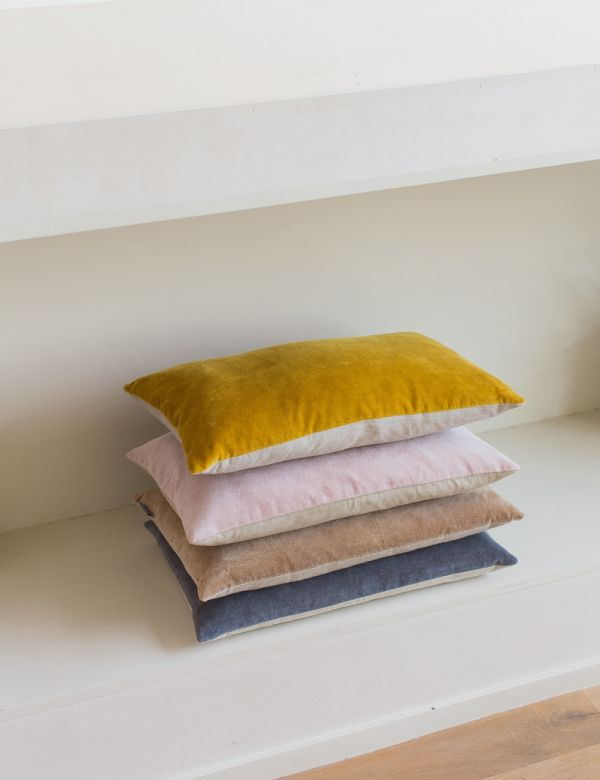 Velvet Rectangular Cushion - Four Colours Available