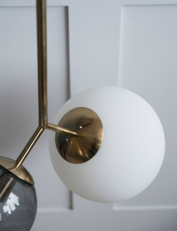 Venice Double Globe Pendant Light - Grey