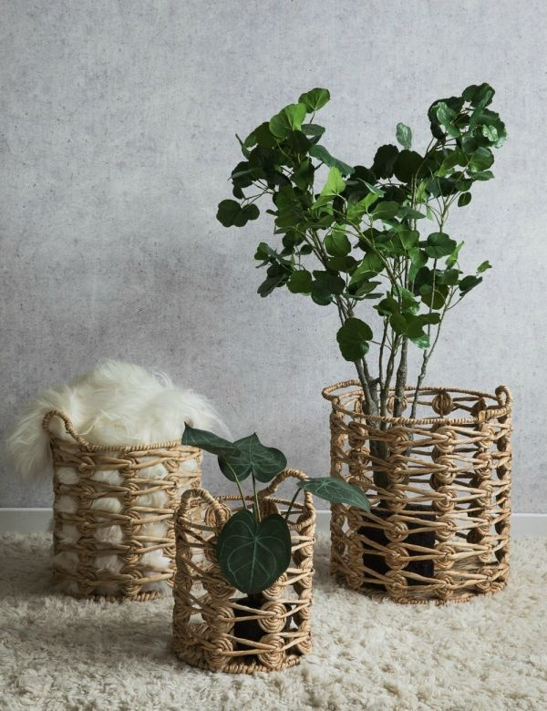 Water Hyacinth Wicker Baskets