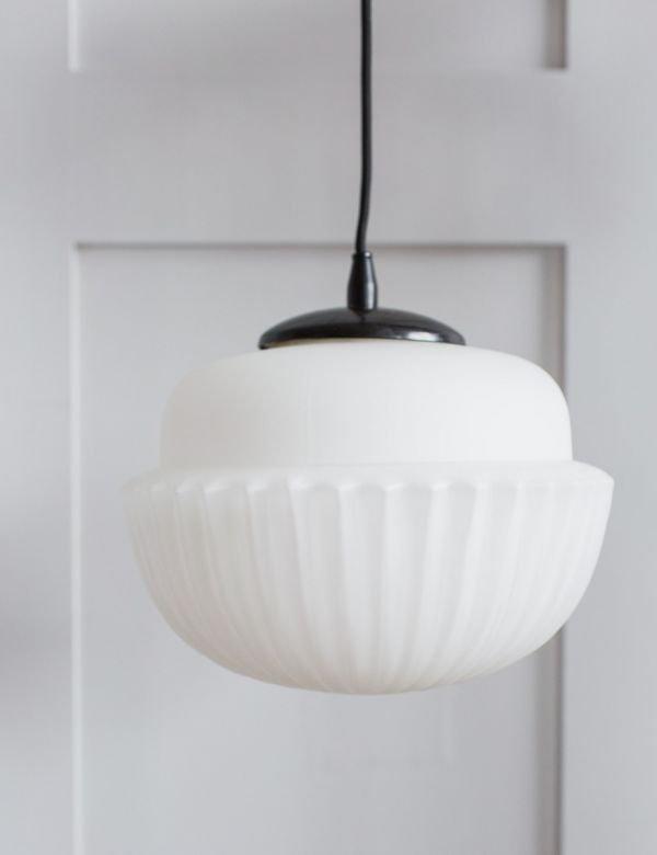 White Acorn Pendant Light