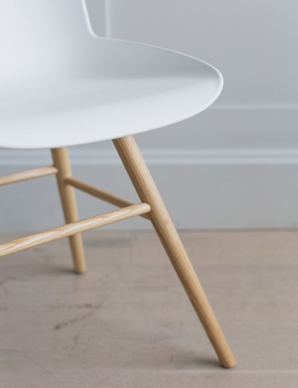 White Albert Kuip Chair by Zuiver