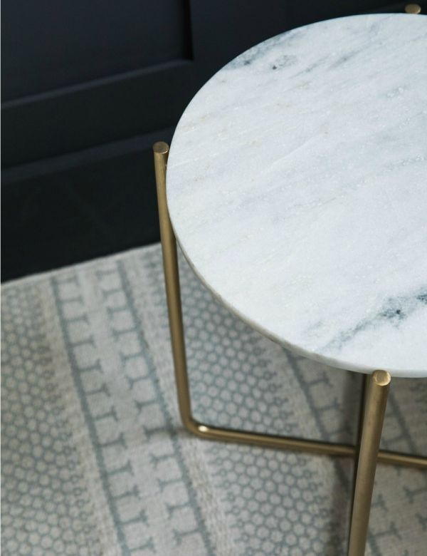 Gloria White Marble Side Table
