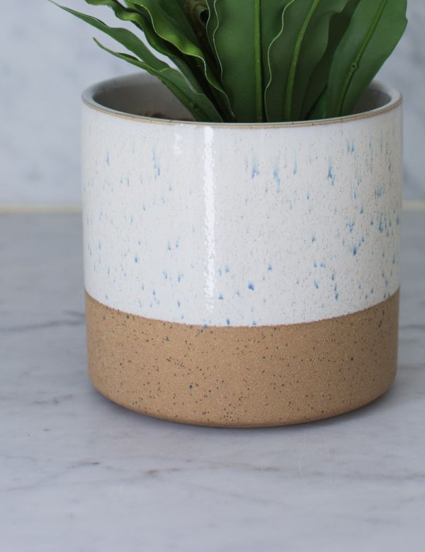 White Large Two-Tone Plant Pot