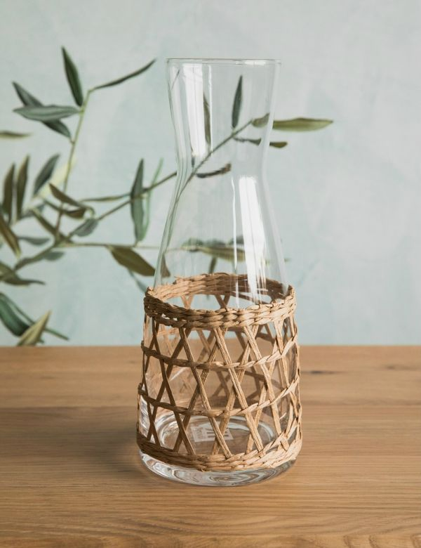 Wicker & Glass Carafe