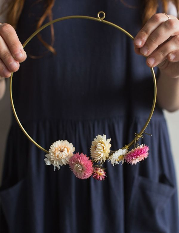 Hanging Wire Ring Decoration - Three Sizes
