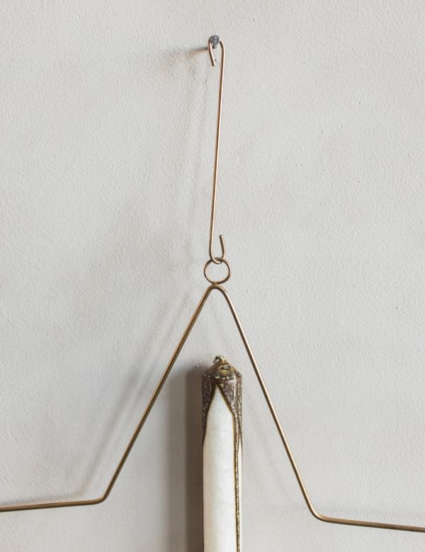Wire Star Hanging Candle Holder