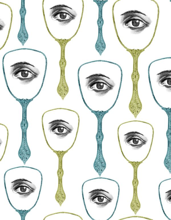 Mind The Gap Wallpaper Collection - Mirrors Eye - Blue/Green
