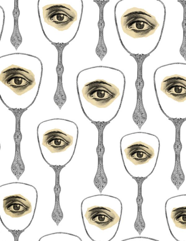Mind The Gap Wallpaper Collection - Mirrors Eye - Taupe