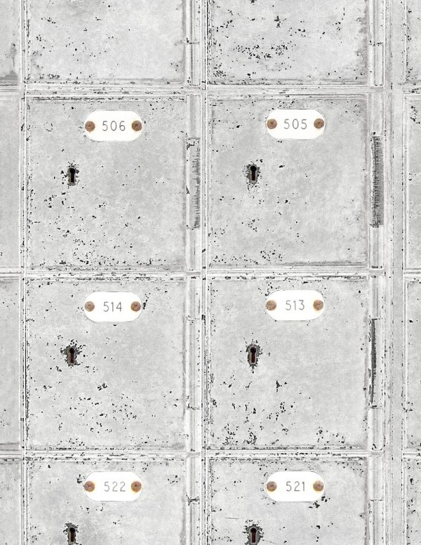 Mind The Gap Wallpaper Collection - Locker Room - White