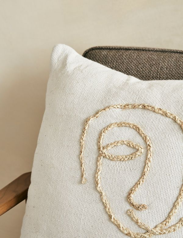 Abstract Face Cushion - Cream