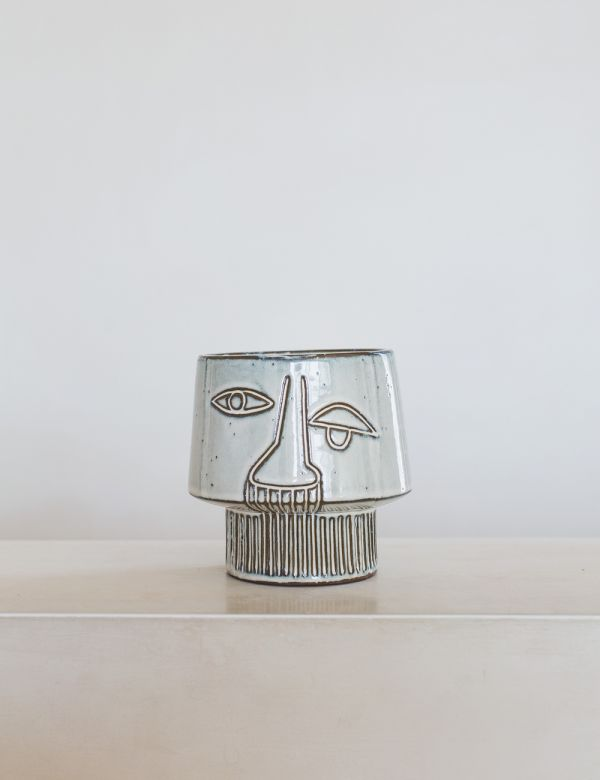 Abstract Face Plant Pot