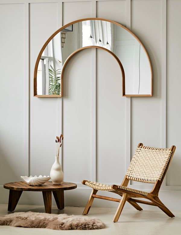 Arch Oak Framed Mirror