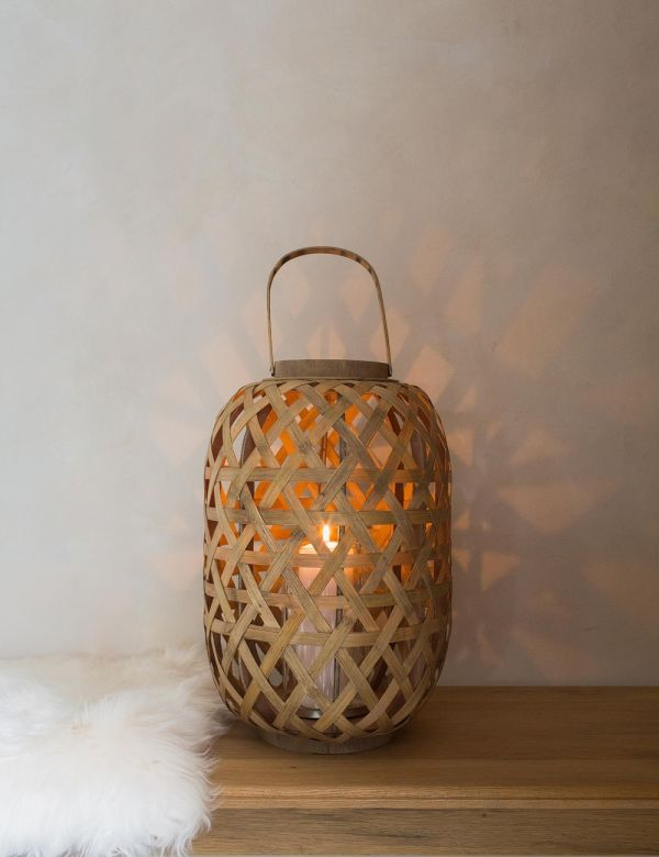 Bamboo and Glass Lantern