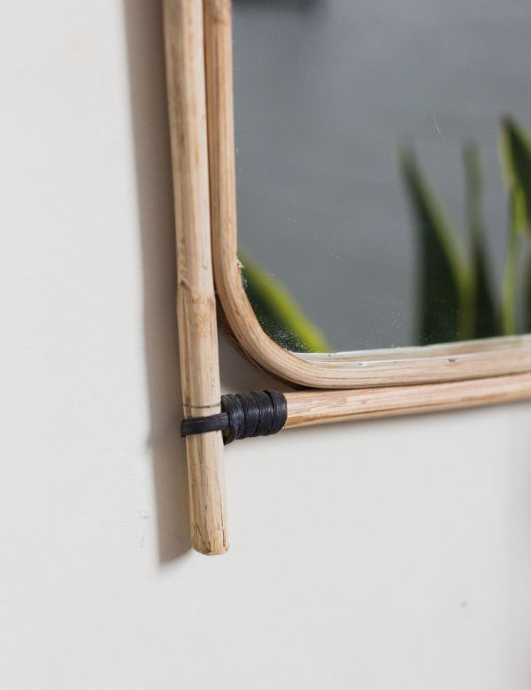 Bamboo & Cane Rectangular Mirror