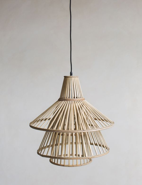 Bamboo Conical Pendant Lamp Shade