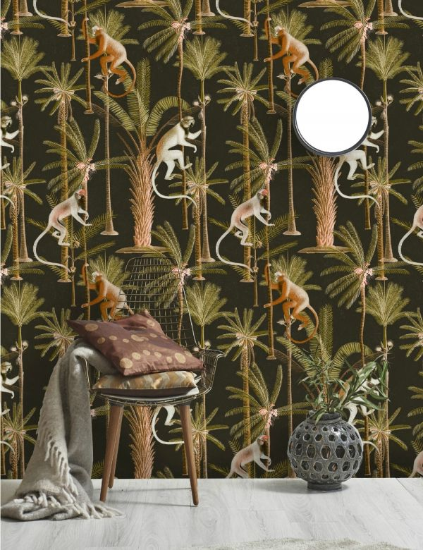 Mind The Gap Wallpaper Collection - Barbados Anthracite