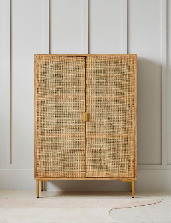 PREORDER Bardot Rattan Webbed Alcove Cabinet