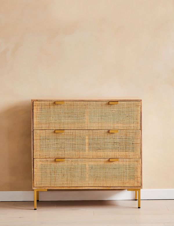 Bardot Rattan Webbed Chest of Drawers