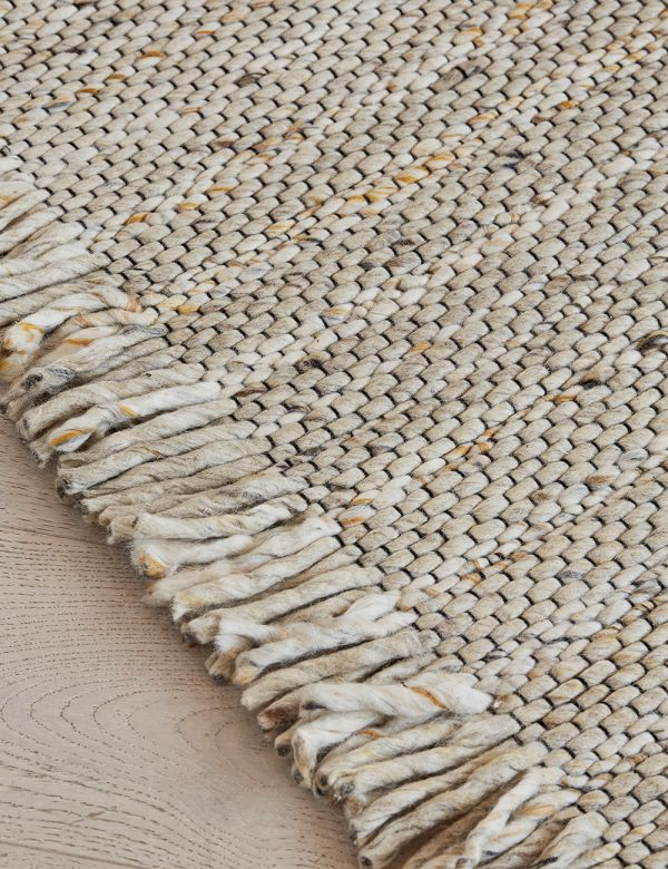 Beige Frills Rug