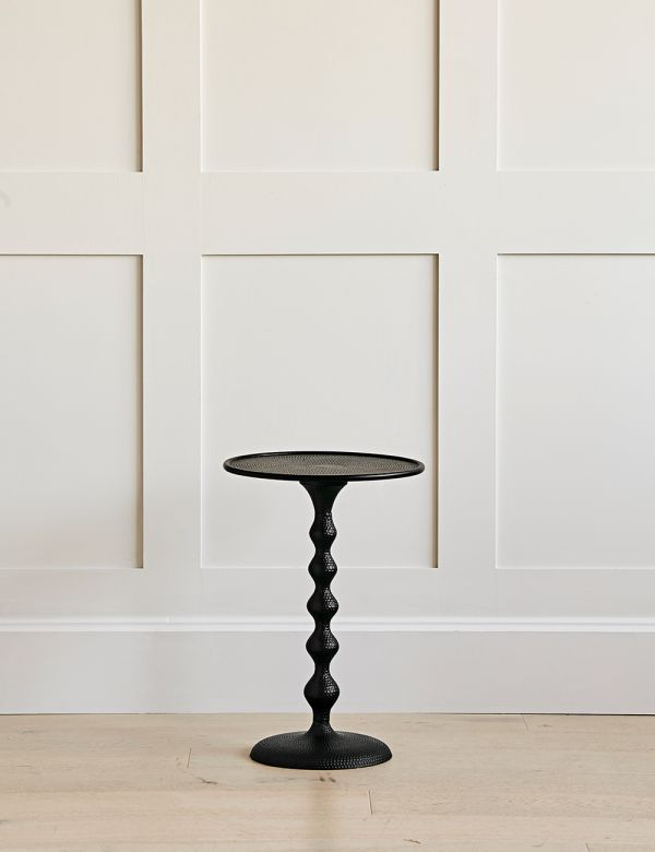 Black Bobbin Stem Side Table