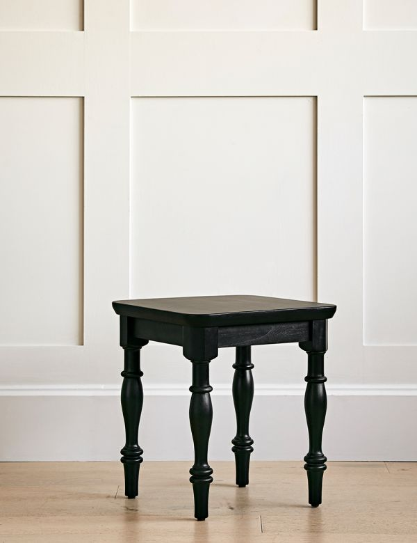 Black Carved Legs Wooden Side Table
