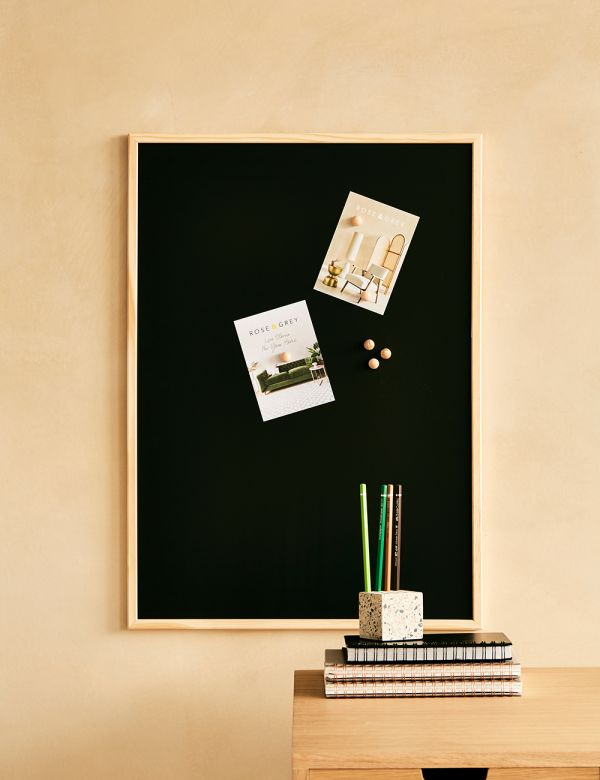 Black Magnetic Noticeboard