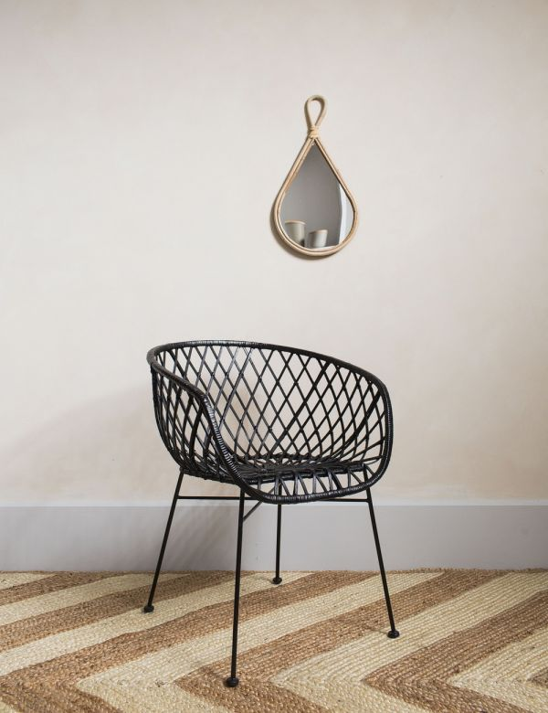 Black Rattan Occasional Chair