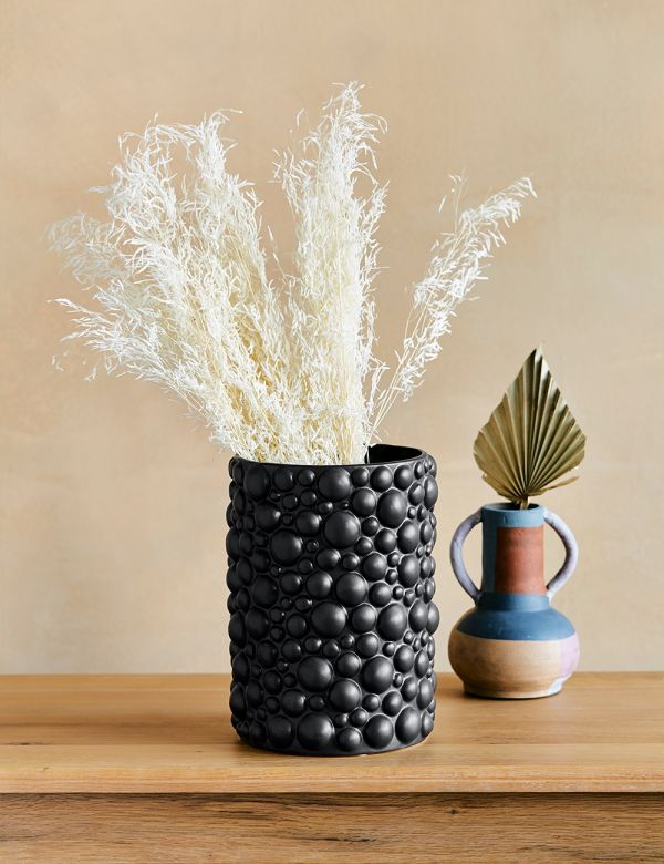 Black Stoneware Bobble Vase
