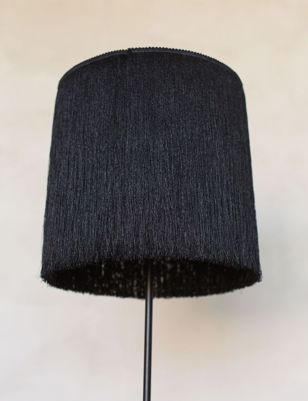 Black Tasseled Floor Lamp