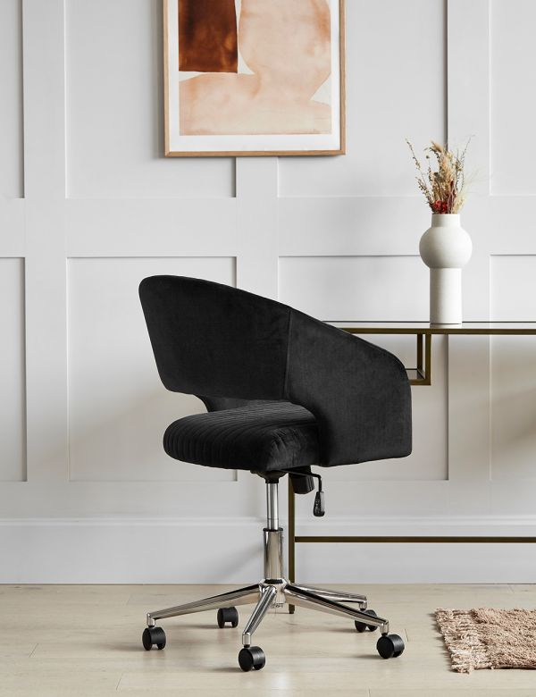 Black Velvet Office Chair