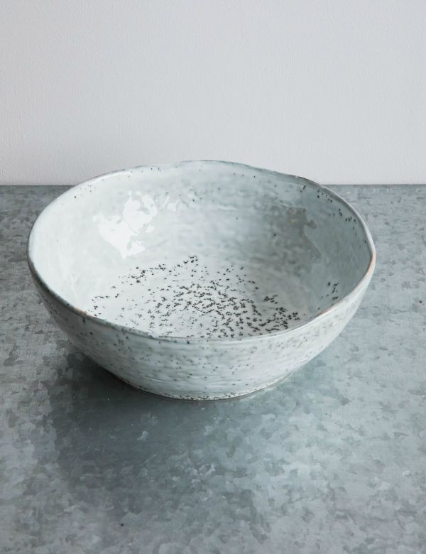 Blue Dappled Serving Bowl
