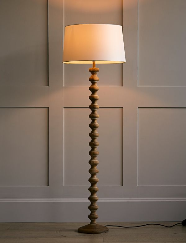 Bobbin Base Floor Lamp