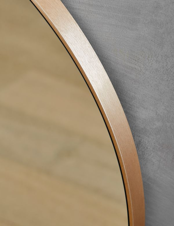 Arch Brass Wall Mirror