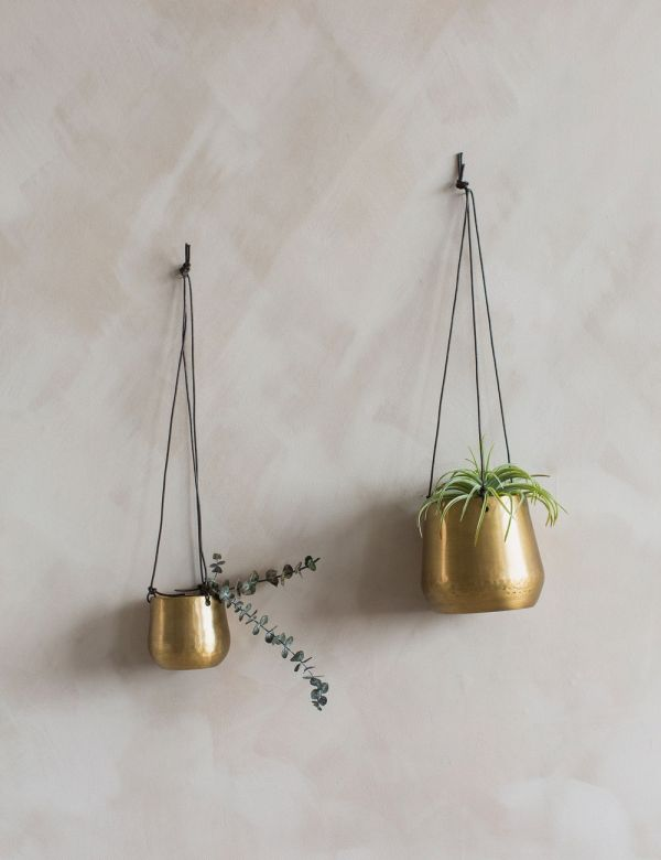 Brass Hanging Planter - Two Sizes Available