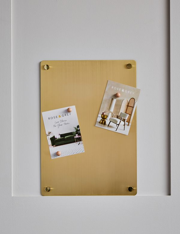 Brass Metal Noticeboard