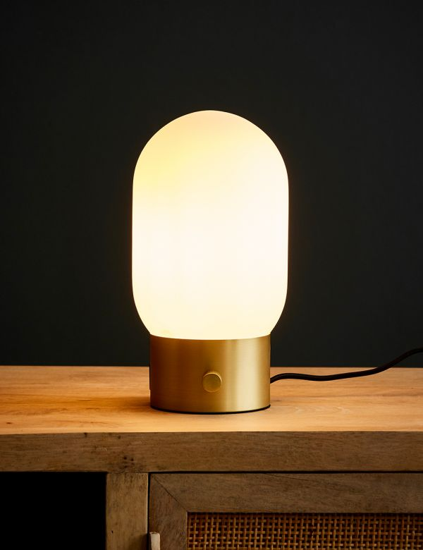 Brass Urban Charger Lamp