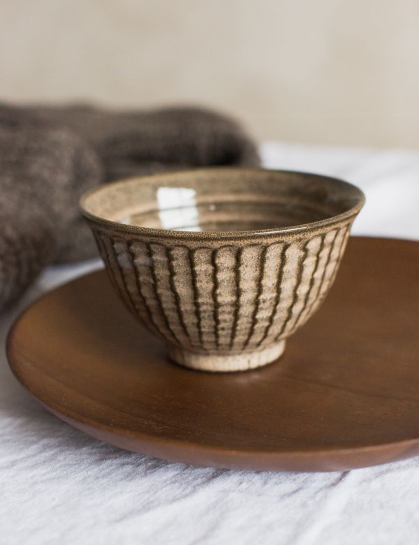 Brown Stoneware Bowl