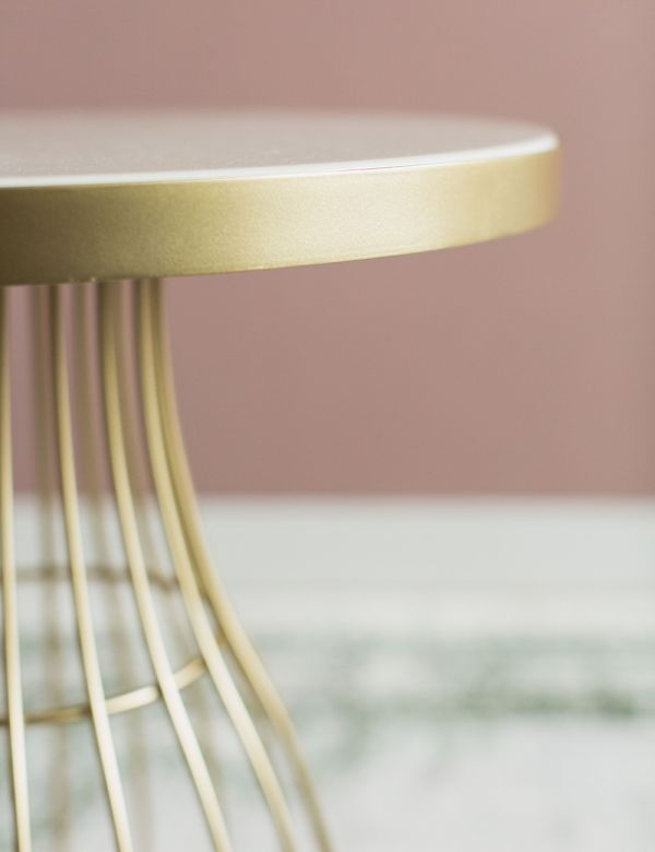 Camilla Side Table - White & Gold
