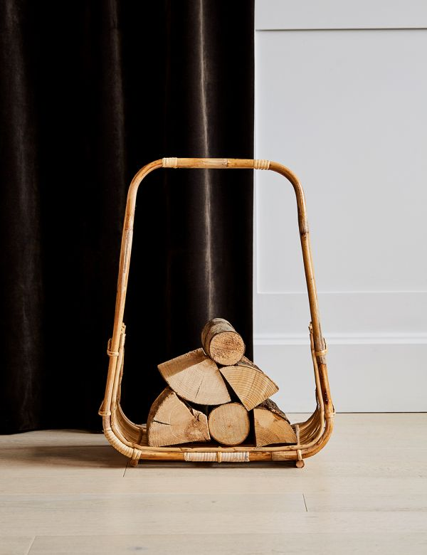 Cane Log Basket