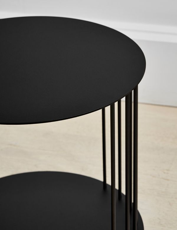 Cara Black Steel Side Table